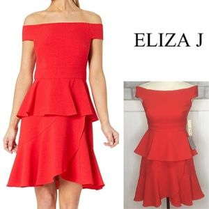 Nwts Eliza J sexy red party Dress